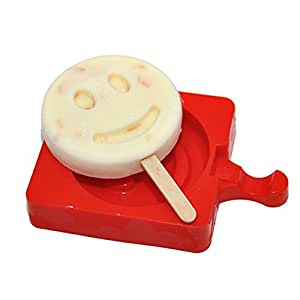Fieans Homemade Creative Shape Reusable Ice Pop Mold Popsicle Maker Popsicle Mould-Smile