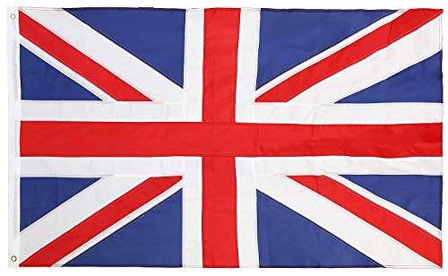 (Cascade Point Flags Union Jack 3x5 Feet Nylon Flag - Embroidered Oxford 210D Heavy Duty Nylon, Durable and Long Lasting - 4 Stitch Hemming. Vivid Colors & Fade Resistant)