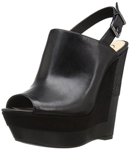 Jessica Simpson de la mujer RADINA sandalias de cuña Negro