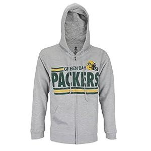 """d203d5be9d6 Green Bay Packers NFL Men s """"Across the Middle"""" Full Zip Fleece Hoodie"""