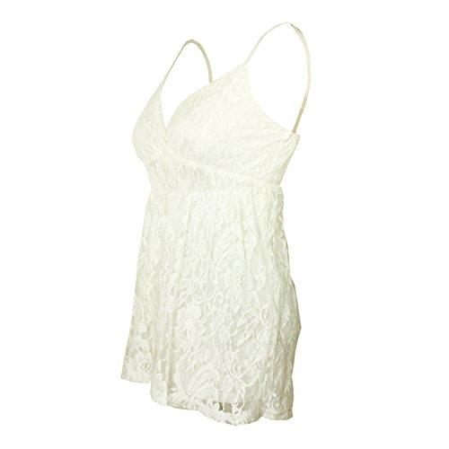 Nonbrand - Camisas - Túnica - Básico - para mujer blanco
