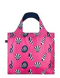LOQI NA.SH Reusable Tote Bag, Shells Print, Multi, United States Carry-On