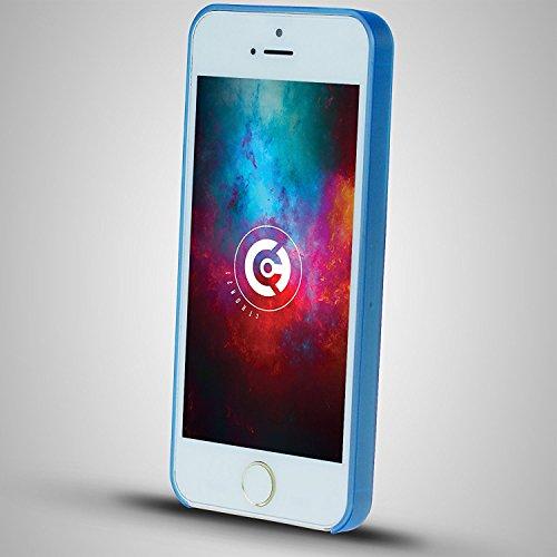 cTRON21 Handyhülle Apple iPhone SE / 5S / 5 Schutzhülle Ultra Slim Case Hülle 0,3 mm Blau