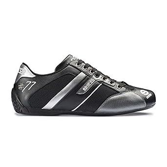 606744ec36 Chaussures SPARCO Time 77 en cuir et tissu noir/gris taille 42: Amazon.fr:  Vêtements et accessoires