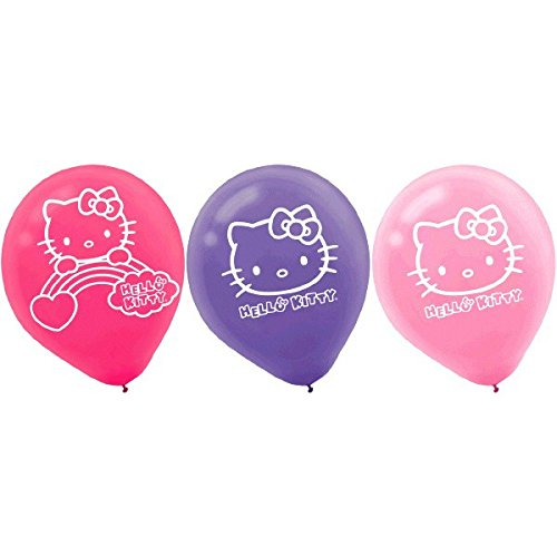 Printed Latex Balloons | Hello Kitty Rainbow Collection | Party Accessory