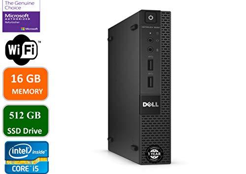 Dell Optiplex 9020 Ultra Small Tiny Desktop Micro Computer PC (Intel Core i5-4570T, 16GB Ram, 512GB Solid State SSD, WiFi, Bluetooth, HDMI Win 10 Pro (Renewed)