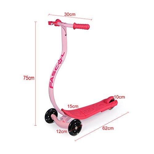 fascol Niños Scooter Patinete, ruedas con iluminación LED ...