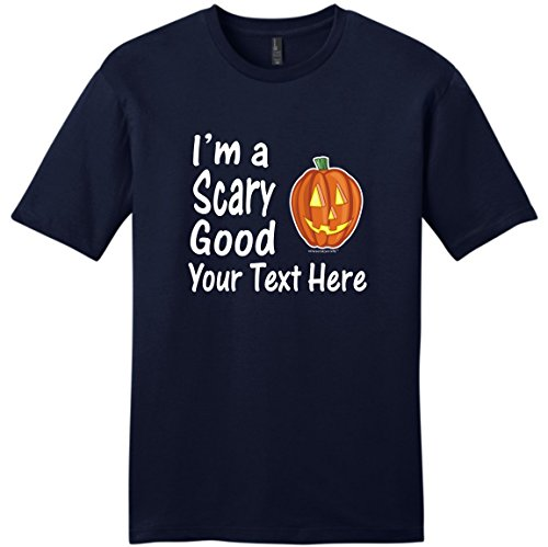 Custom Costume Contact Lenses (Custom Hallowen Costume Personalized Halloween I'm a Scary Good Your Text Young Mens T-Shirt Small NwNvy)