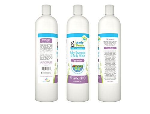 Andy Pandy Organics 100% Natural & Organic Baby Body Wash & Shampoo (16 fl oz, Lavender) by Andy Pandy