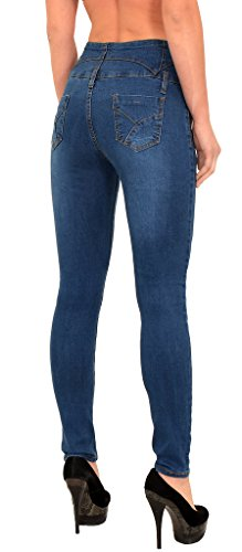 Grande Bleu Skinny Taille High Jean Jeans S200 Taille Waist Haute 52 48 by Femme tex Pantalon 50 Femmes wTtq8qP