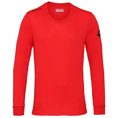 Lotto Mens Football Jersey Long Sleeve Team EVO Sports V Shirt (L) (Flame)