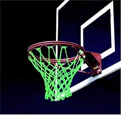 VOSAREA Night Glowing Leuchtendes Basketballnetz Nylon geflochtenes
