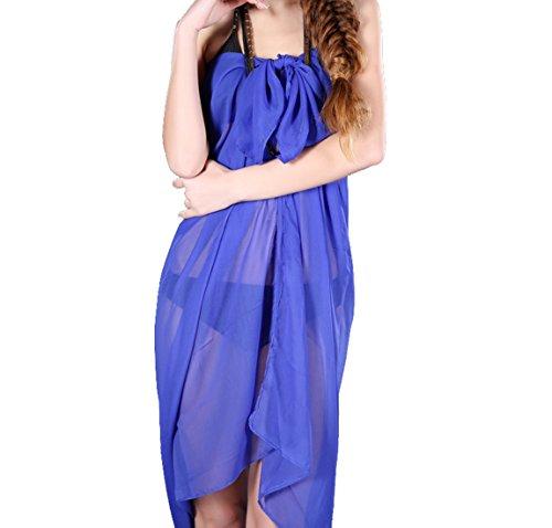 Unita Pareo Blu Copricostumi Tinta reale Sciarpe Versatile Donna Sarong 5Aqx4tq6w