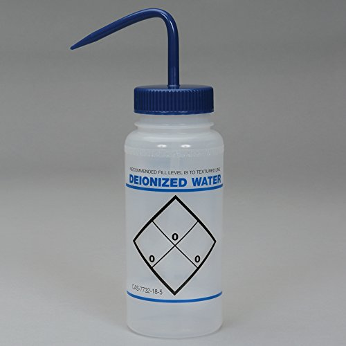 Wash Bottle, Widemouthed, for Deionized Water, 500 mL