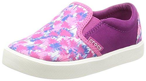 Crocs Kids' Citilane Novelty K Slip-on, Pink Palm, 12 M US Little Kid by Crocs (Image #1)