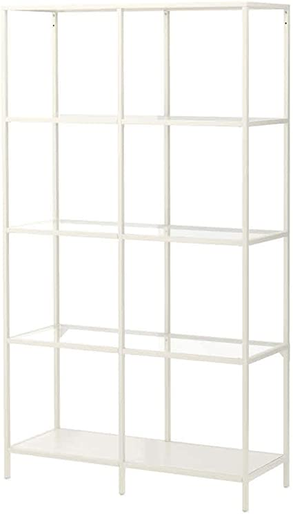 IKEA ASIA VITTSJÖ- Estantería, Color Blanco, Cristal: Amazon ...