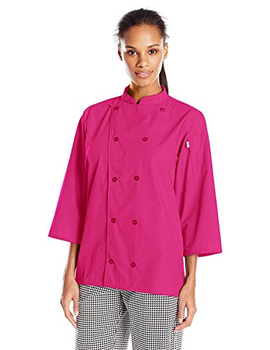 Uncommon Threads Unisex Epic 3/4 Sleeve Chef Shirt, Berry, 2X-Large by Uncommon Threads