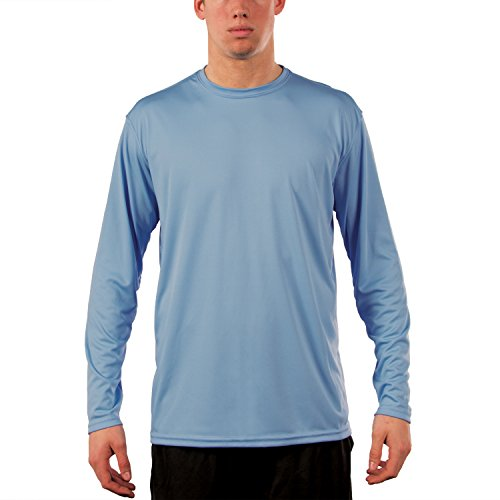 Vapor Apparel Men's UPF Long Sleeve Solar With CampingForFoodies Desert Hiking Tips And Techniques For Beginners To Have Confidence With The Proper Gear, Boots, Clothing, First Aid And Hiking Essentials