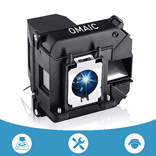 OMAIC Projector Lamp Bulb for Epson ELPLP60/ V13H010L60 Home Cinema PowerLite 420 425W 905 92 93 95 96W 1835 430 435W 915W D6150 Replacement Projector -