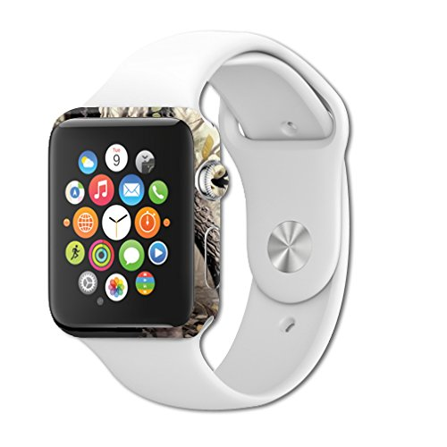 MightySkins Protective Vinyl Skin Decal for Apple Watch Series 1 42mm iWatch Cover wrap Sticker Skins Tree Camo