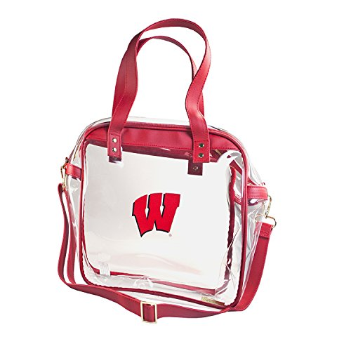 CAPRI DESIGNS CLEARLY FASHION LICENSED STADIUM COLLECTION CARRYALL TOTE---MEETS STADIUM REQUIREMENTS (University of Wisconsin) by CLEARLY FASHION