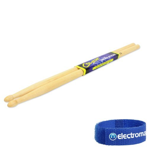 Price comparison product image Cheetah Maple 5A Drummer Band Group Performance Wooden Drum Sticks Pair 14 X 406 Mm