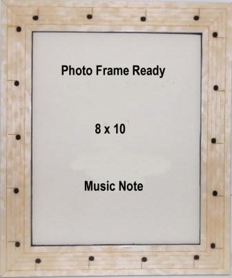 table top music note staff photo frame 8x10 - Music Note Picture Frame
