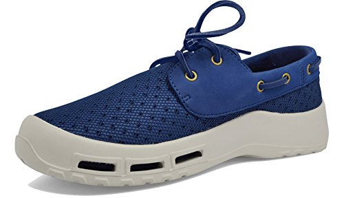 Fishing Boat Boot - SoftScience The Fin Men's Boating/Fishing Shoes - Dark Blue, Size 15