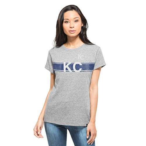 MLB Kansas City Royals Women's '47 super Hero Tee, X-Large, Vintage Grey