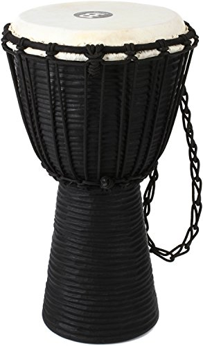 Meinl Percussion HDJ3-S Black River Series Headliner Rope Tuned Djembe, Small: 8-Inch Diameter