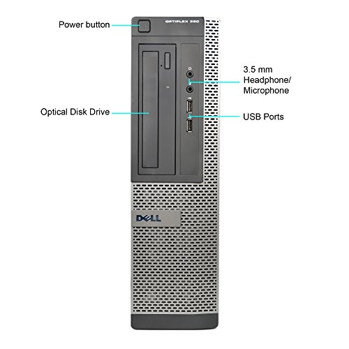 Dell Optiplex 390 Business Desktop Computer Tower PC (Intel Core i5-2400, 4GB Ram, 500GB HDD, HDMI, WIFI, DVD-RW) Win 7 Pro - 32 Bit (Renewed)