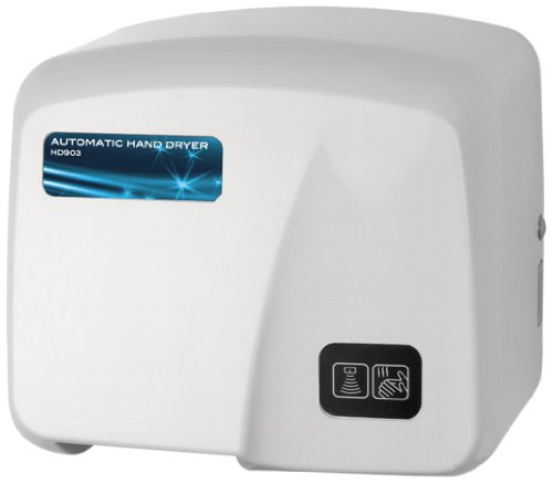Palmer Fixture HD0903-17 Hand Dryer, Commercial High Grade Fire Retardant ABS, White
