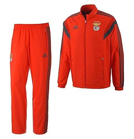 Adidas Benfica Lisboa SLB Pre Suit Traje de deporte Chándal rojo ...