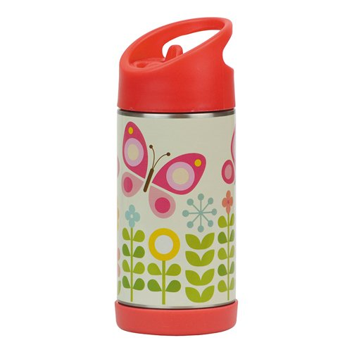 Petit Collage Insulated Stainless Steel Water Bottle (Butterfly Collage)