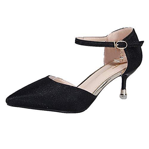 Heels Heel Pu Silver Shoes Pump Polyurethane Black Gold Stiletto Summer Women'S Party Basic Black amp; Evening QOIQNLSN 0Bqwgg