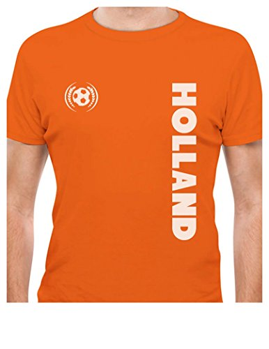 Tstars TeeStars - Holland National Football Team The Netherlands Soccer Fans T-Shirt XX-Large Orange