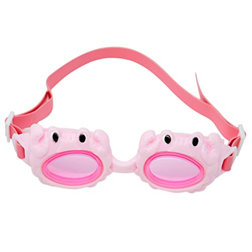 Kids Swim Goggles By Marco Polo: Swimming Goggles For Boys And Girls, Cute And Funny Crab Design, Leak Resistant Water Goggles For Children, Comfortable To Wear In The Sea And The Pool