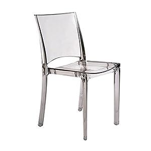 Grandsoleil Upon B-Side Chaise empilable, en Polycarbonate, Cristal Clair, 50x 48x 81.5cm