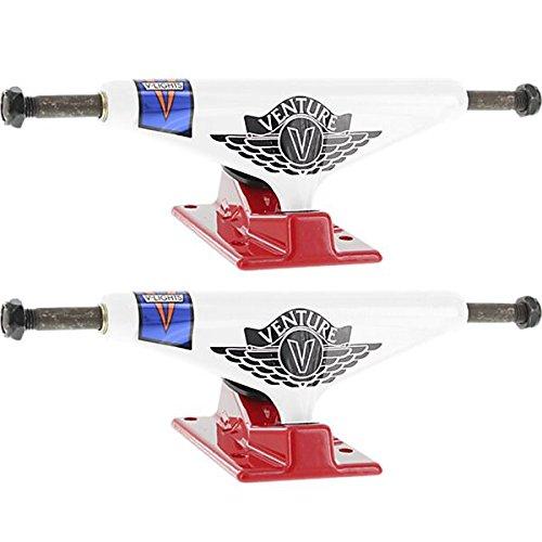 淡い接触通訳Venture Trucks v-light高ホワイト/レッドSkateboard Trucks – 5.25
