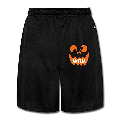 LunaCp Men's Antlia Scary Pumpkin Face Cool Halloween Performance Shorts Sweatpants XL Black ()