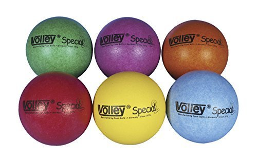 Volley SuperSkin 2 Special Medium/Low Bounce Balls - 6 1/4 inch - Set of 6 - Assorted Colors