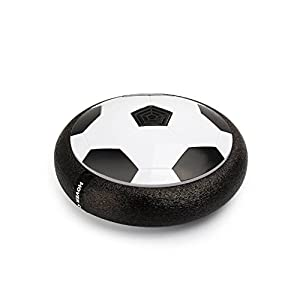 WarmBlood Toy Soccer - Amazing Hover Ball With Colorful LED Lights Foam Bumpers Air Power Soccer - Children Toys Training Football Disk For Indoor Outdoor Games For 3 Year Old Boys Girls With Parents