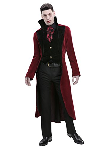 Men's Plus Size Dreadful Vampire Costume 2X Red