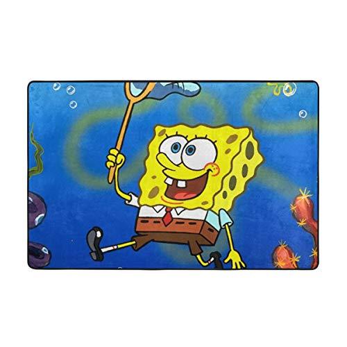 Large Non-Slip Area Rug Spongebob Squarepants Cartoon Carpet Living Room Rugs Floor Mat Doormats 60 X 39 Inches