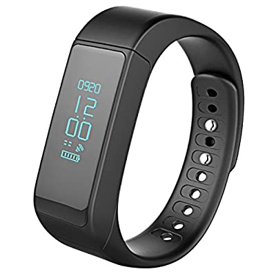 FITYOU Wireless Fitness Pedometer Tracker Bluetooth Sports Bracelet Activity Tracker with Steps Counter Sleep Monitoring Calories Track