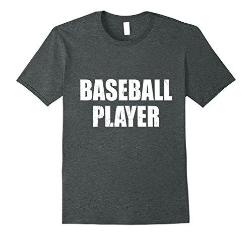 Mens Baseball Player Shirt Halloween Costume Funny Distressed 3XL Dark Heather