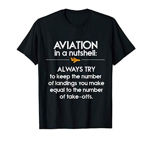 Mens Funny Pilot T Shirt for Aviators Aviation Airplane Captains