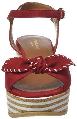 rosso Ariel Con Schmoove Kid Plateau Ankle Rosso Donna Suede 04 Sandali n4zTWfzB