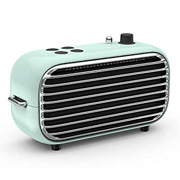Vintage Retro Bluetooth Speaker – Small Wireless Speaker with FM Radio, Powerful Bass Enhancement, 20W HD Sound, Bluetooth 4.2, USB Charge, Classic Style Perfect for Outdoors, Travel, Home Party