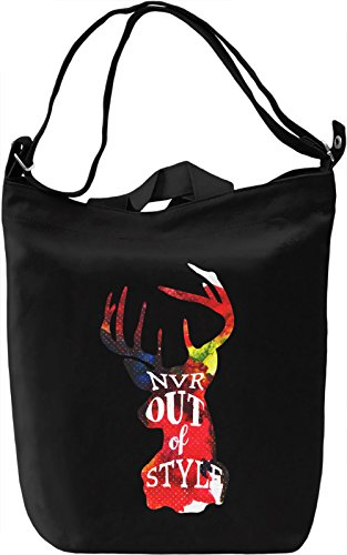 Out Of Style Borsa Giornaliera Canvas Canvas Day Bag| 100% Premium Cotton Canvas| DTG Printing|